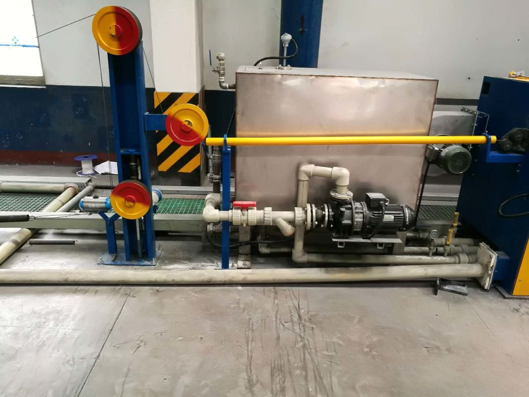 Iron Servo Direct Connection Straight Line Wire Drawing Machine For Nails , Low Noise